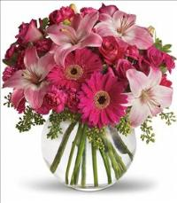 A Little Pink Me Up Bouquet by US Teleflorist .com- Associated with other USA Teleflorists