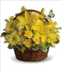 Basket Full of Wishes by US Teleflorist .com- Associated with other USA Teleflorists