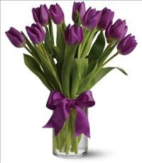 Passionate Purple Tulips by US Teleflorist .com- Associated with other USA Teleflorists