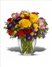 Bright & Cheery Arrangement by US Teleflorist .com- Associated with other USA Teleflorists