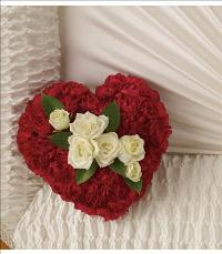 A Devoted Heart Casket Insert by US Teleflorist .com- Associated with other USA Teleflorists
