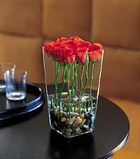 12 Roses Vased by US Teleflorist .com- Associated with other USA Teleflorists