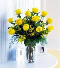 Dozen Yellow Roses by US Teleflorist .com- Associated with other USA Teleflorists