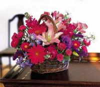 Hot Pink Basket by US Teleflorist .com- Associated with other USA Teleflorists