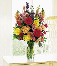 Medium Mixed Vase Arrangement by US Teleflorist .com- Associated with other USA Teleflorists