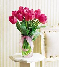 Pink Tulip Bouquet by US Teleflorist .com- Associated with other USA Teleflorists