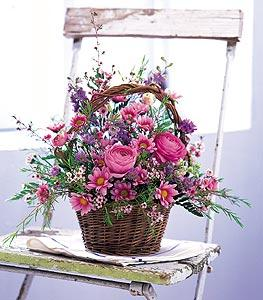 Basket of Blossoms by US Teleflorist .com- Associated with other USA Teleflorists