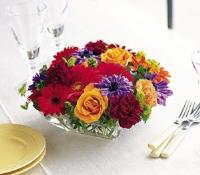 Square Mounded Centerpiece by US Teleflorist .com- Associated with other USA Teleflorists