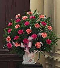 Basket with Pink Carnations by US Teleflorist .com- Associated with other USA Teleflorists
