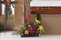 Basket with Summer Flowers by US Teleflorist .com- Associated with other USA Teleflorists
