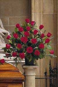 Basket with 24 Red Roses by US Teleflorist .com- Associated with other USA Teleflorists