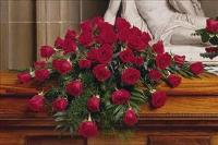 48 Red Rose Casket Spray by US Teleflorist .com- Associated with other USA Teleflorists
