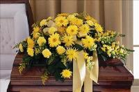 All-Yellow Casket Spray by US Teleflorist .com- Associated with other USA Teleflorists
