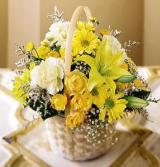 Flourishing Garden™Basket by US Teleflorist .com- Associated with other USA Teleflorists